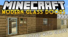 Mod Modern Glass Doors for Minecraft 1.15/1.14.