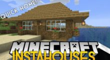 Mod InstaHouses for Minecraft 1.15/1.14.4