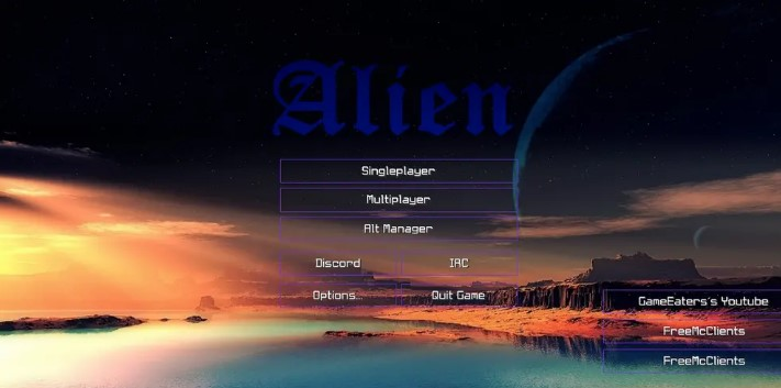 Hacked Client Alien b12 for Minecraft 1.14.4/1.14.3