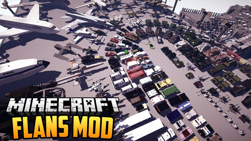 Flan's Mod (Airplanes, cars, vehicles) for Minecraft 1.14.4/1.14