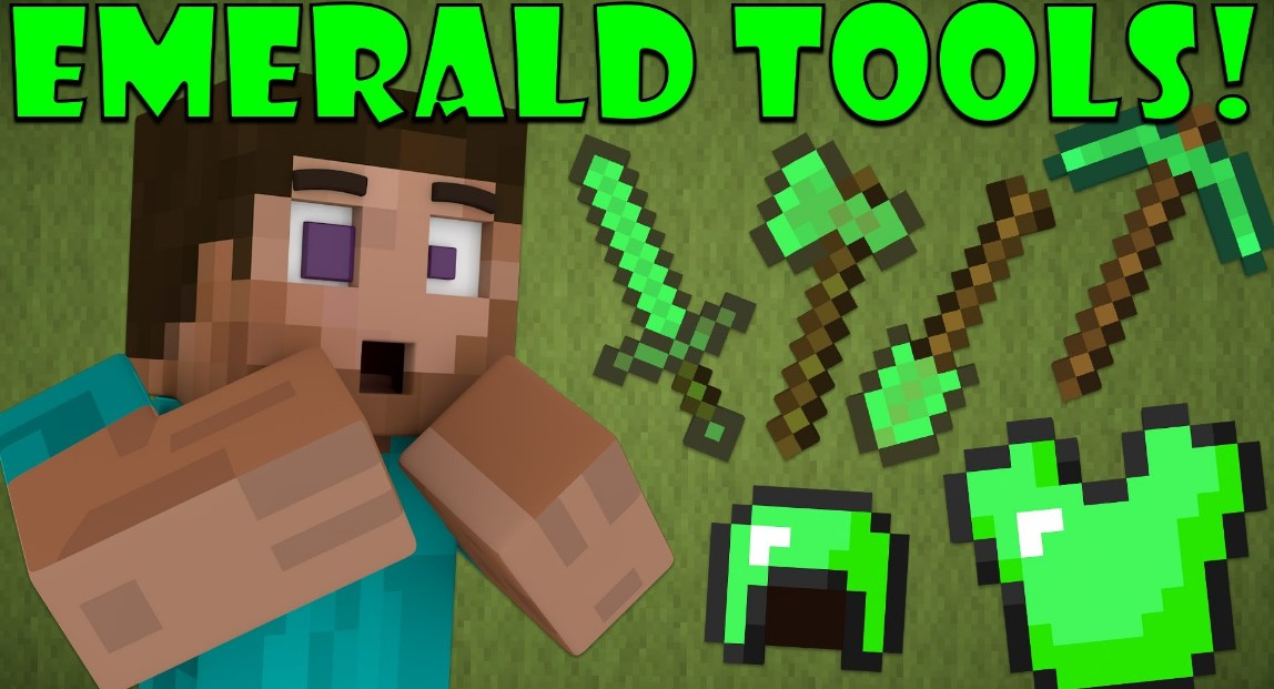 Emerald Tools Mod for Minecraft 1.15/1.14.4