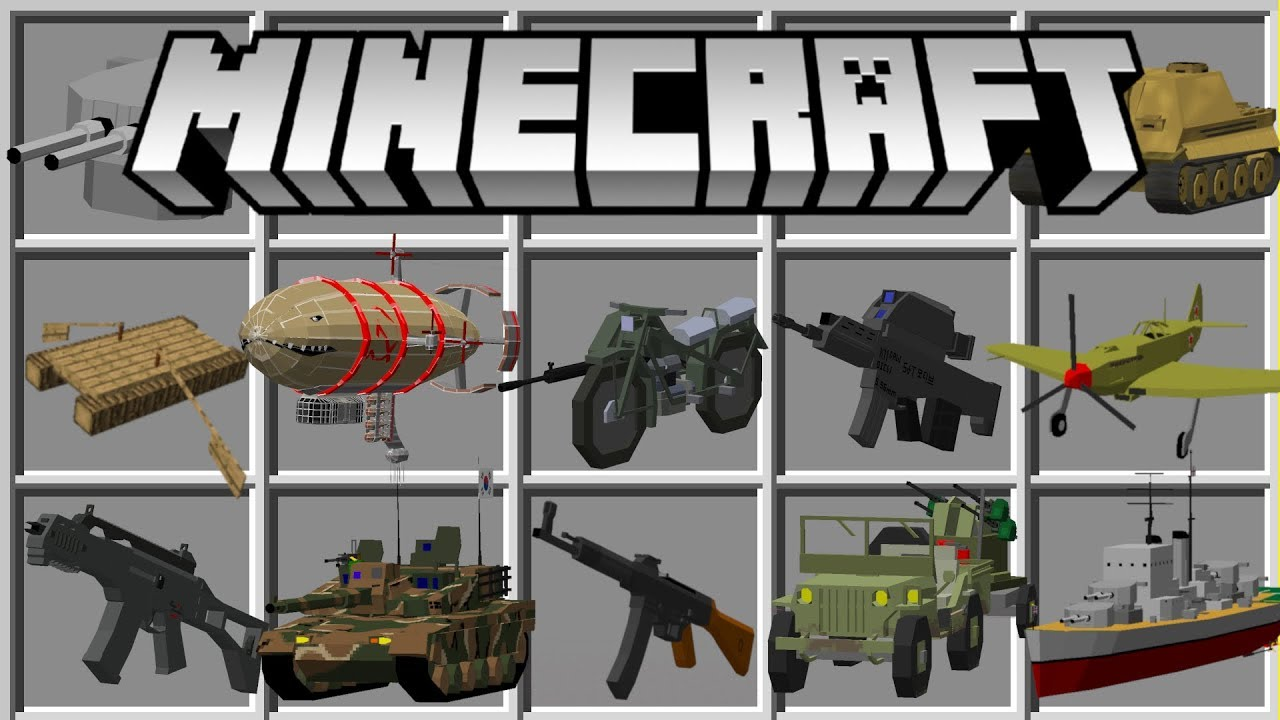 Flan's Weapon Mod for Minecraft 1.14.4/1.14/1.13.2