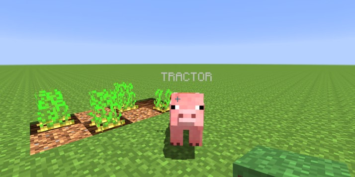 Pig Tractors Mod for Minecraft 1.14.4/1.13.2