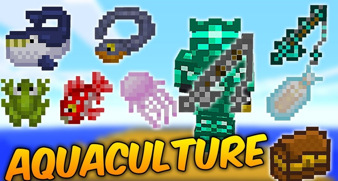 Aquaculture Mod for Minecraft 1.15.2/1.15.1/1.14.4
