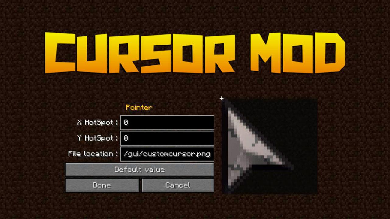 Cursor Mod for Minecraft 1.15.1/1.15