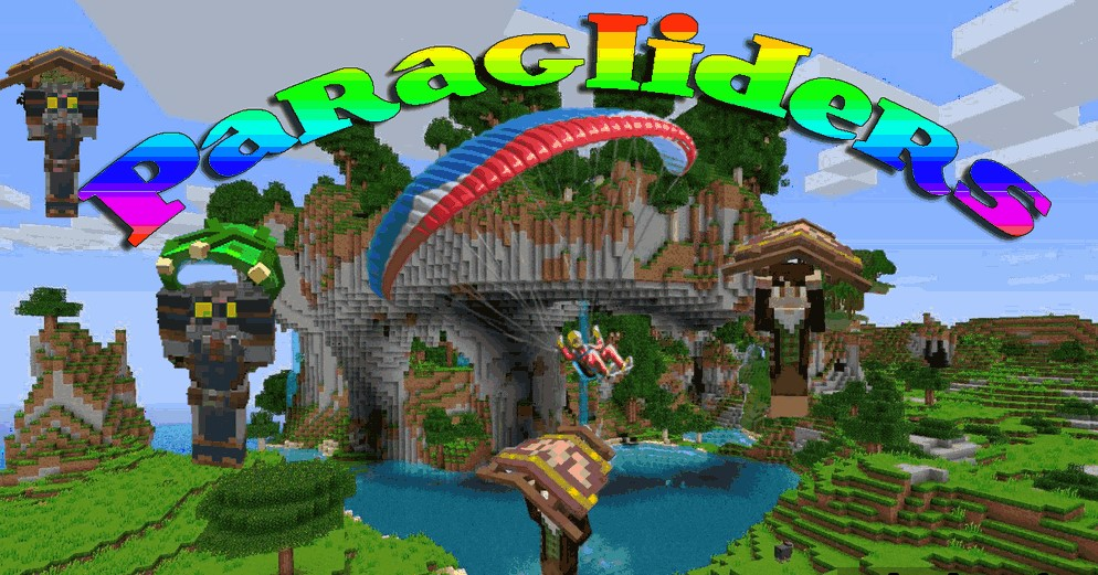 Paragliders Mod for Minecraft 1.14.4/1.12.2
