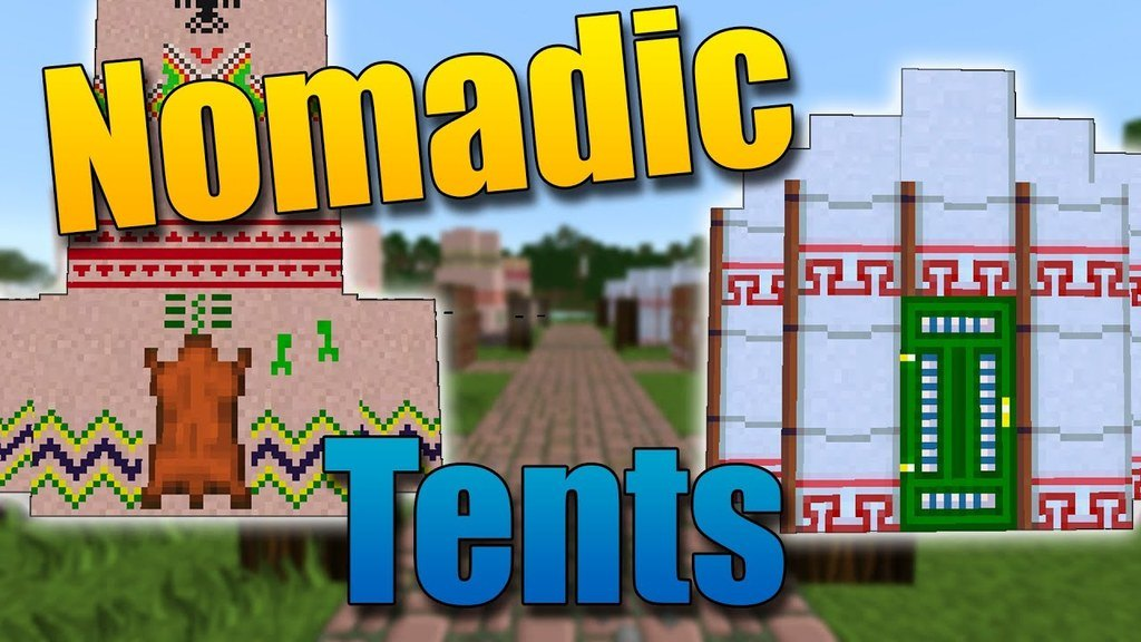 Nomadic Tents Mod for Minecraft 1.15.2/1.14.4