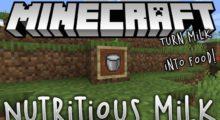 Nutritious Milk Mod for Minecraft 1.15.2/1.14.4/1.12.2