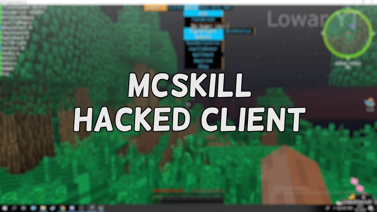 MсSkill Hacked client for Minecraft 1.16.1/1.16