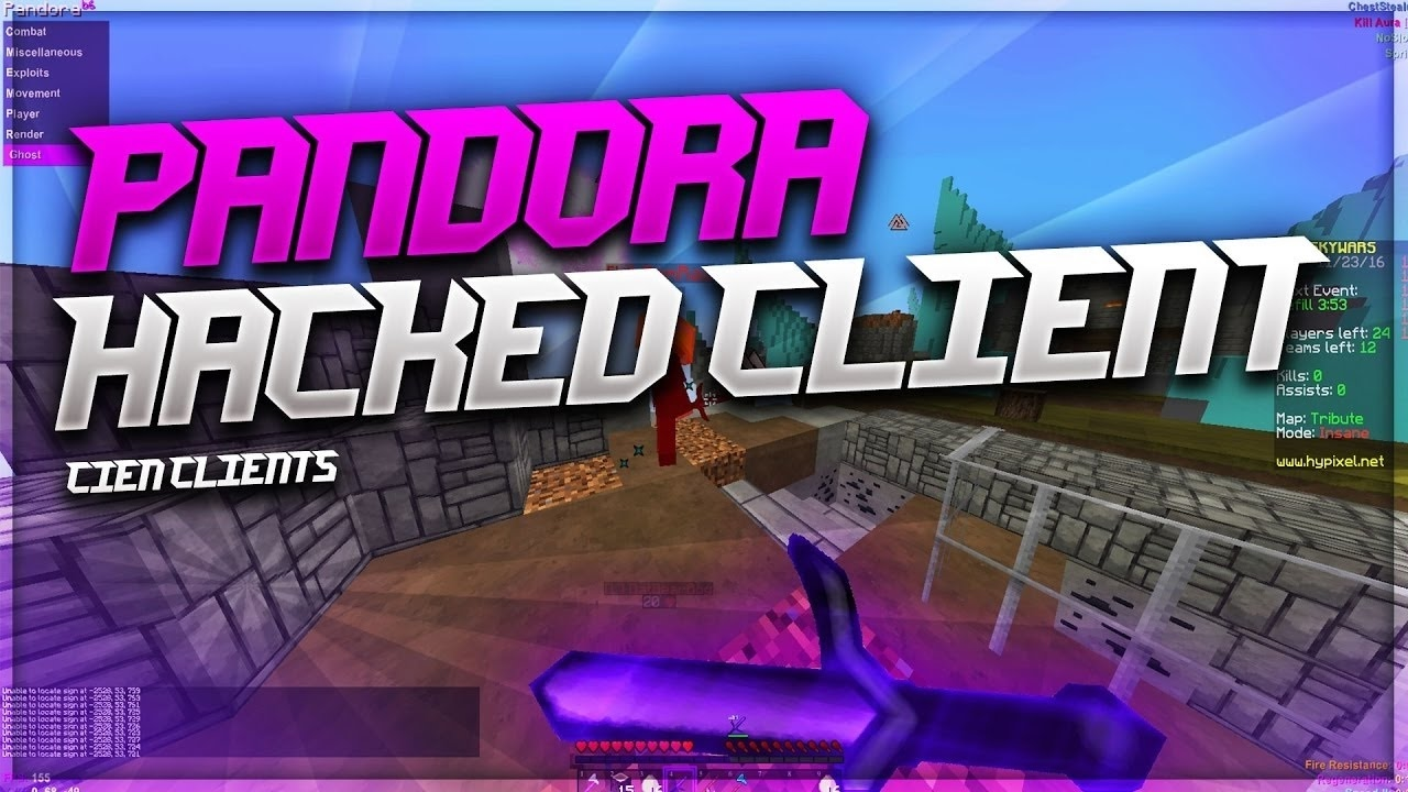 Pandora Hacked client for Minecraft 1.16.1/1.16