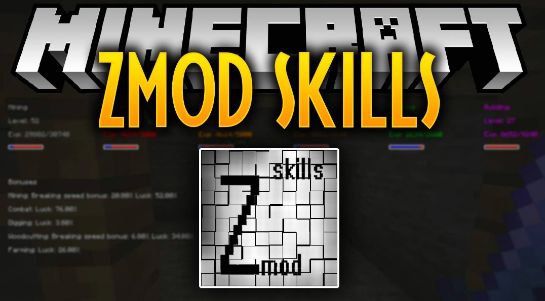ZmodSkills Mod for Minecraft 1.16.2/1.16.1/1.15.2