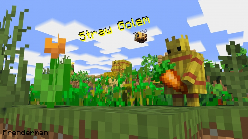 Straw Golem for Minecraft 1.16.2/1.15.2/1.14.4