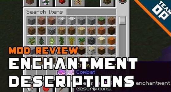 Enchantment Descriptions Mod for Minecraft 1.16.3/1.16.2