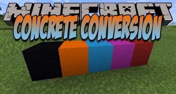 Concrete Conversion Mod for Minecraft 1.16.3/1.16.2/1.15.2