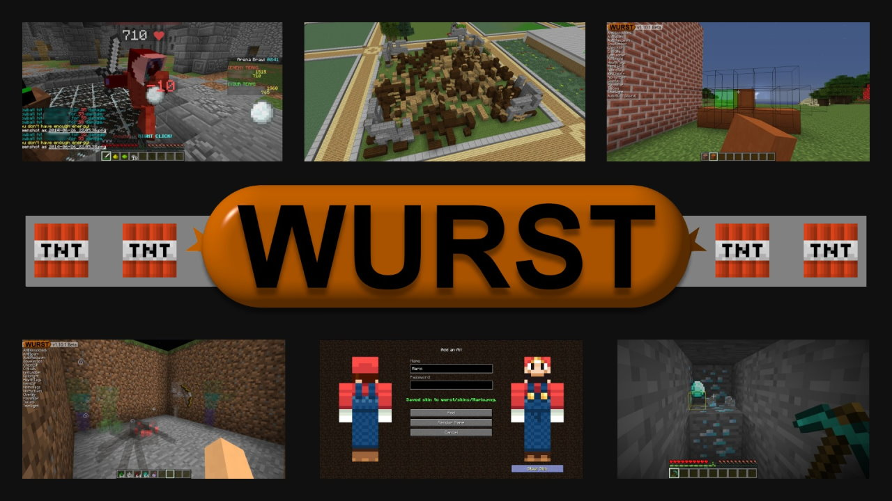 Wurst Hacked client for Minecraft 1.16.4/1.16.3