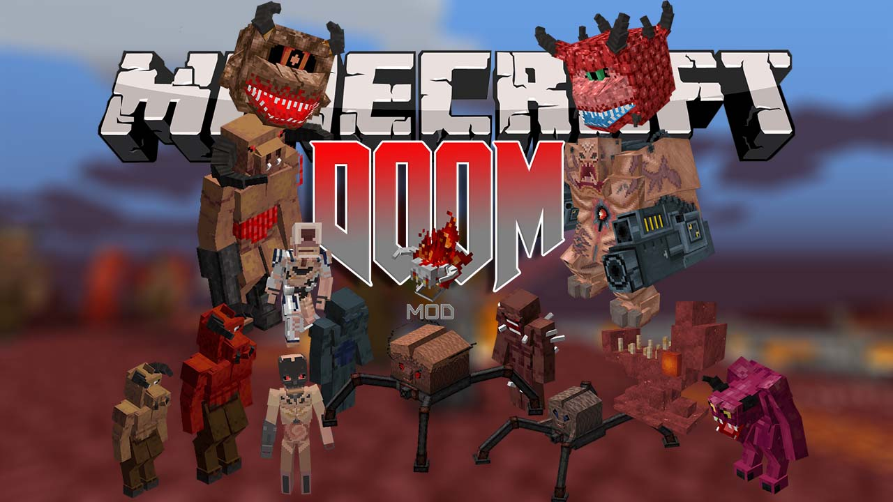 Doom in Minecraft mod