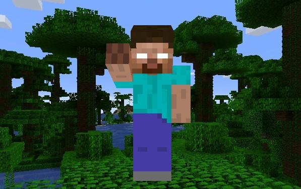 Herobrine skin Minecraft Java