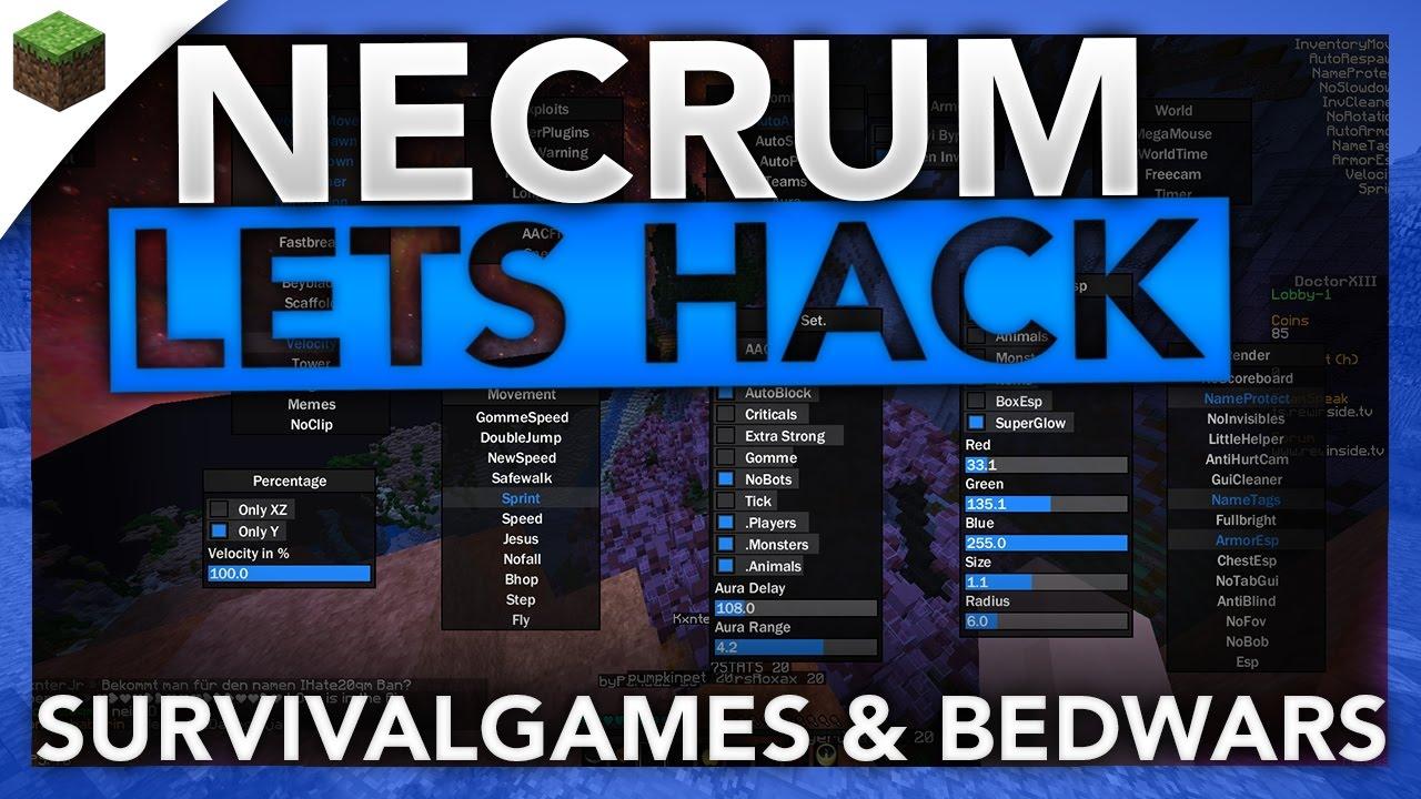 Necrum Hacked client Minecraft