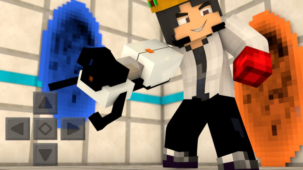 Portal gun Minecraft mod