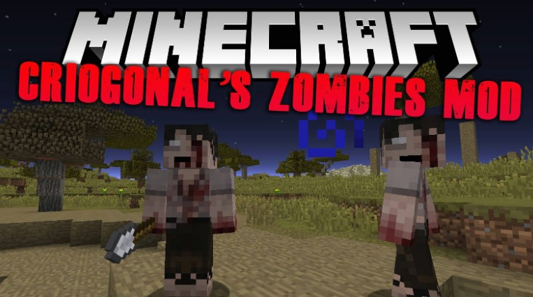Zombies mod for Minecraft