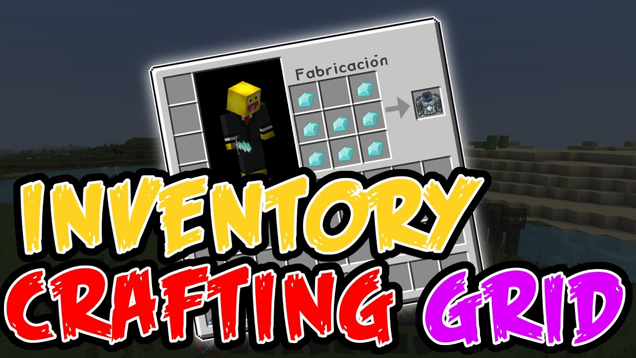 Inventory Crafting Grid Mod for Minecraft 1.16.5/1.16.3/1.15.2