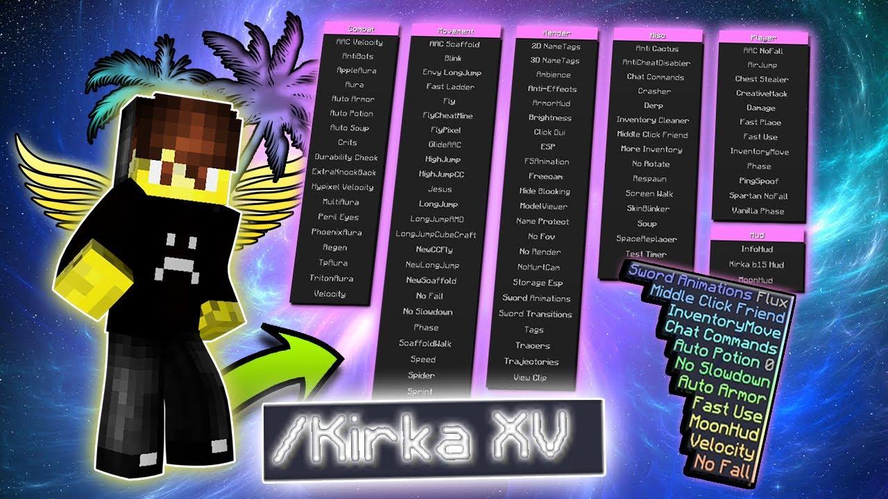 Kirka XV Minecraft 1.16.4 hacked client