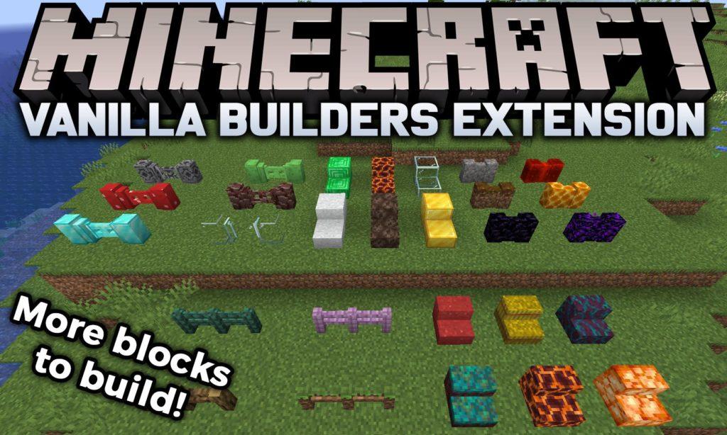More blocks to build Minecraft