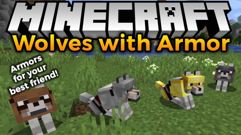 Wolves With Armor mod Minecraft