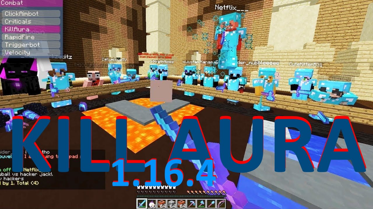 kill aura Minecraft 1.16.4 hack