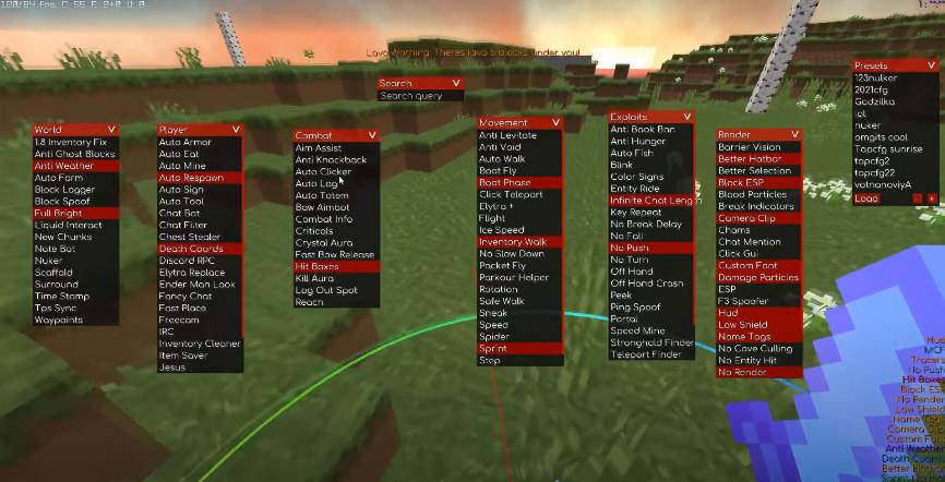 kill aura Minecraft