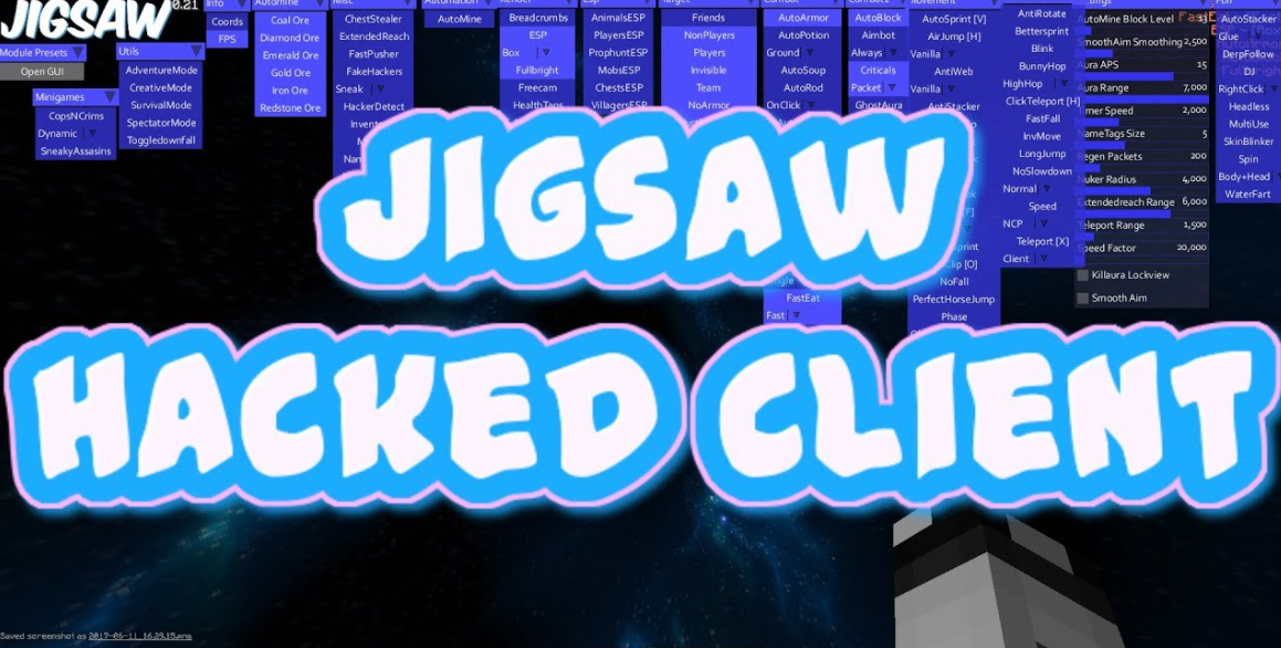 JigSaw Minecraft hacked client