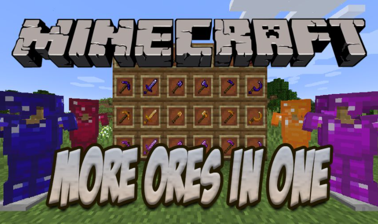 More Ores in One Minecraft