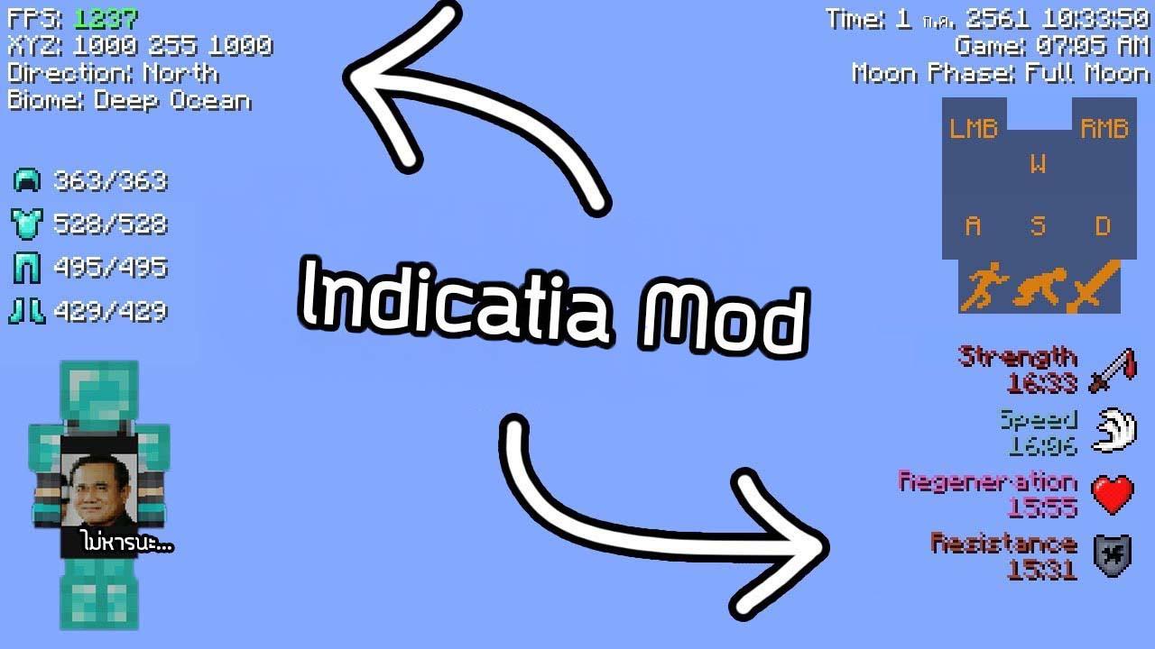 Indicatia Mod Minecraft