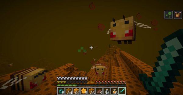 Minecraft 1.16.5 bee