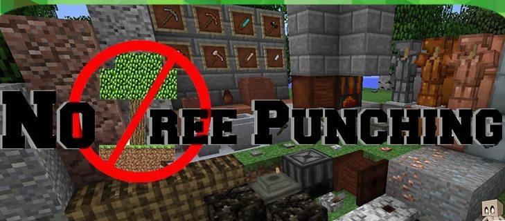 No Tree Punching Minecraft