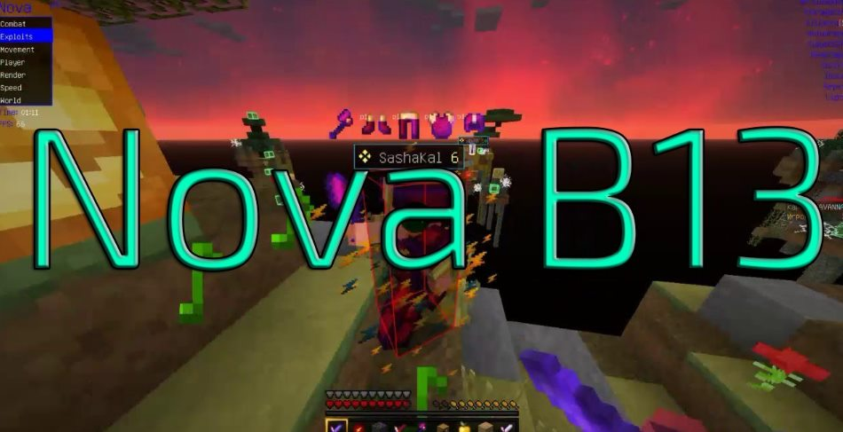 Nova Hacked client Minecraft