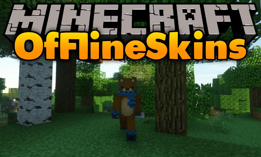 Offline-Skins-mod-for-minecraft-logo