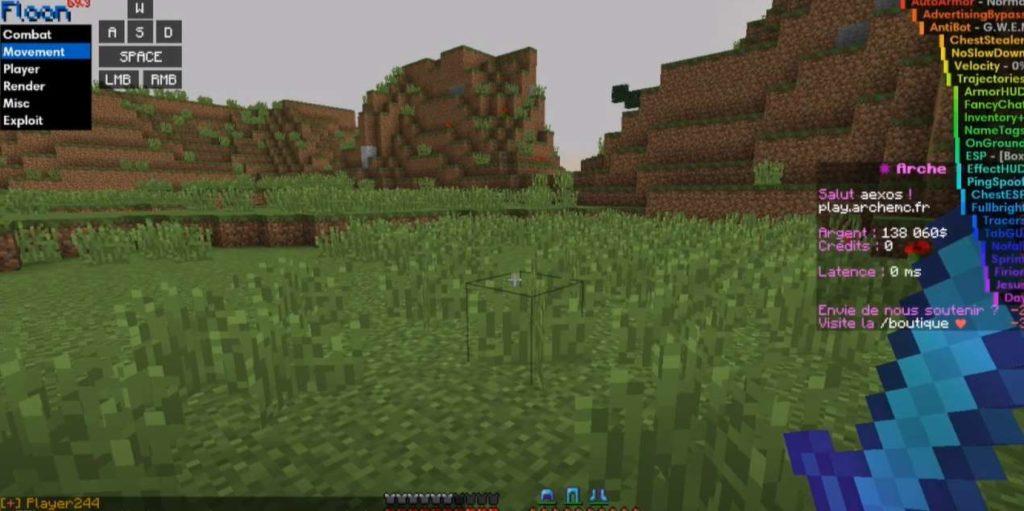 Floon Hacked client Minecraft