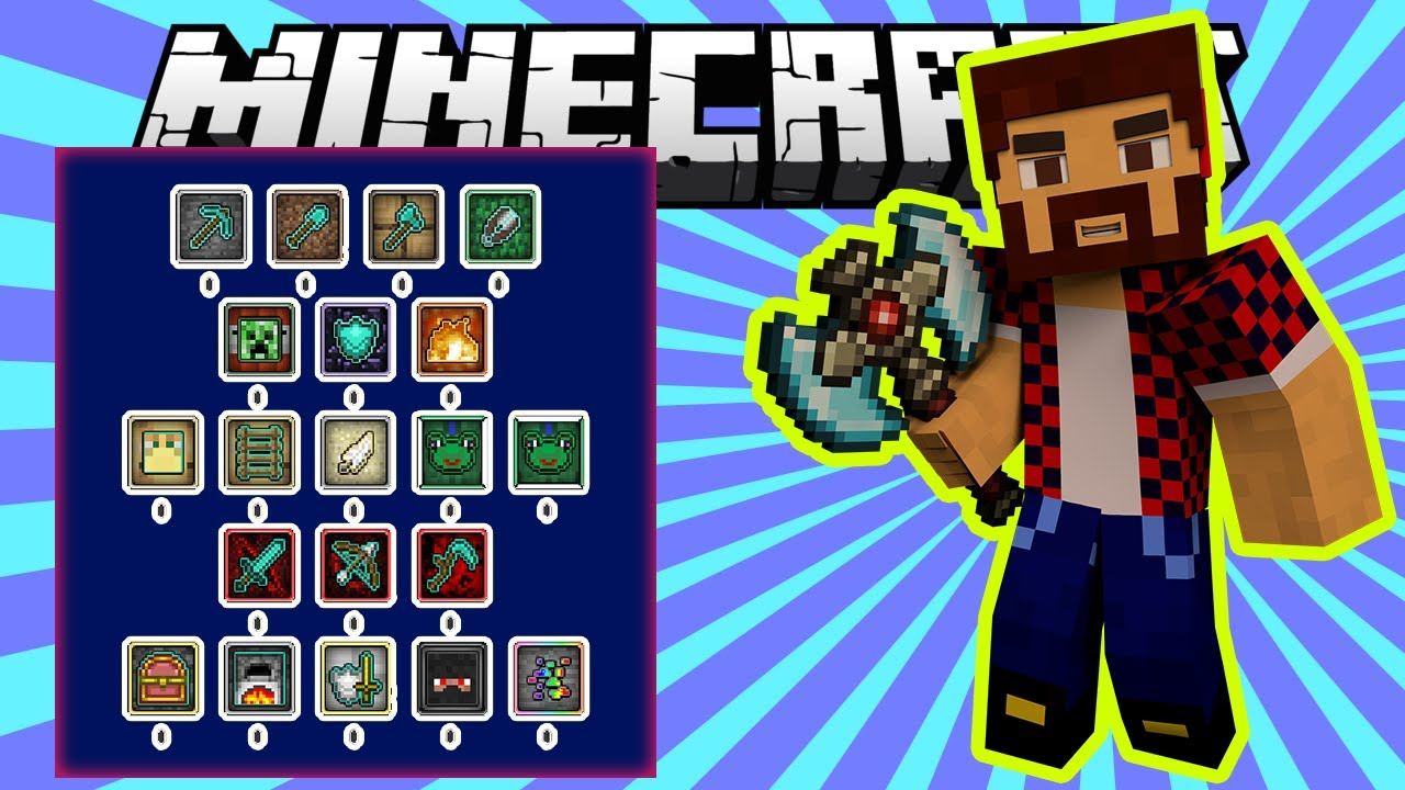 Minecraft character leveling mod