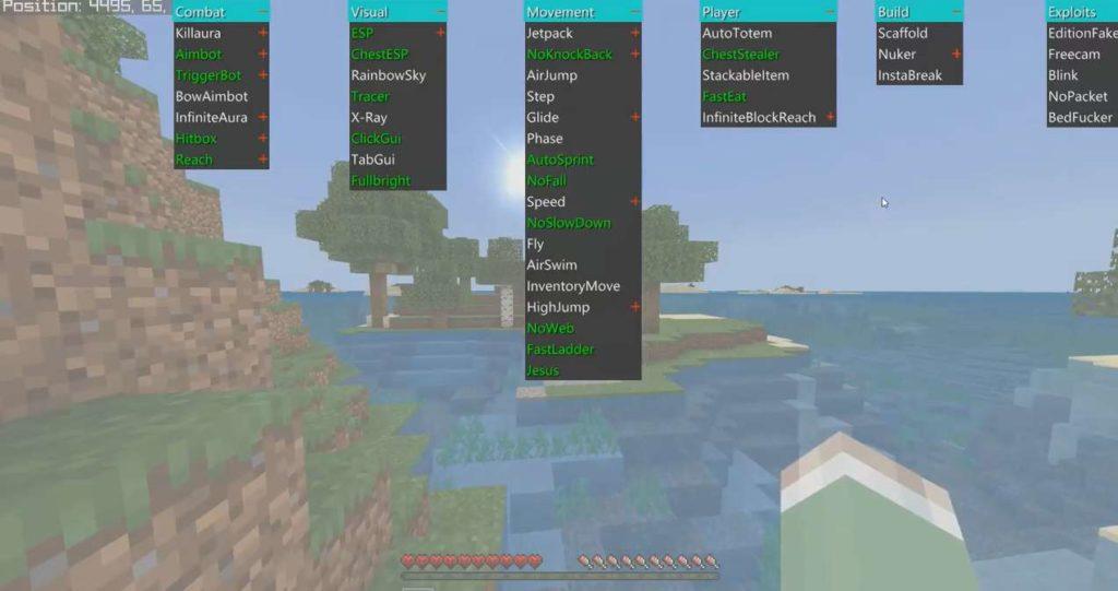 minecraft bedrock edition hacked client