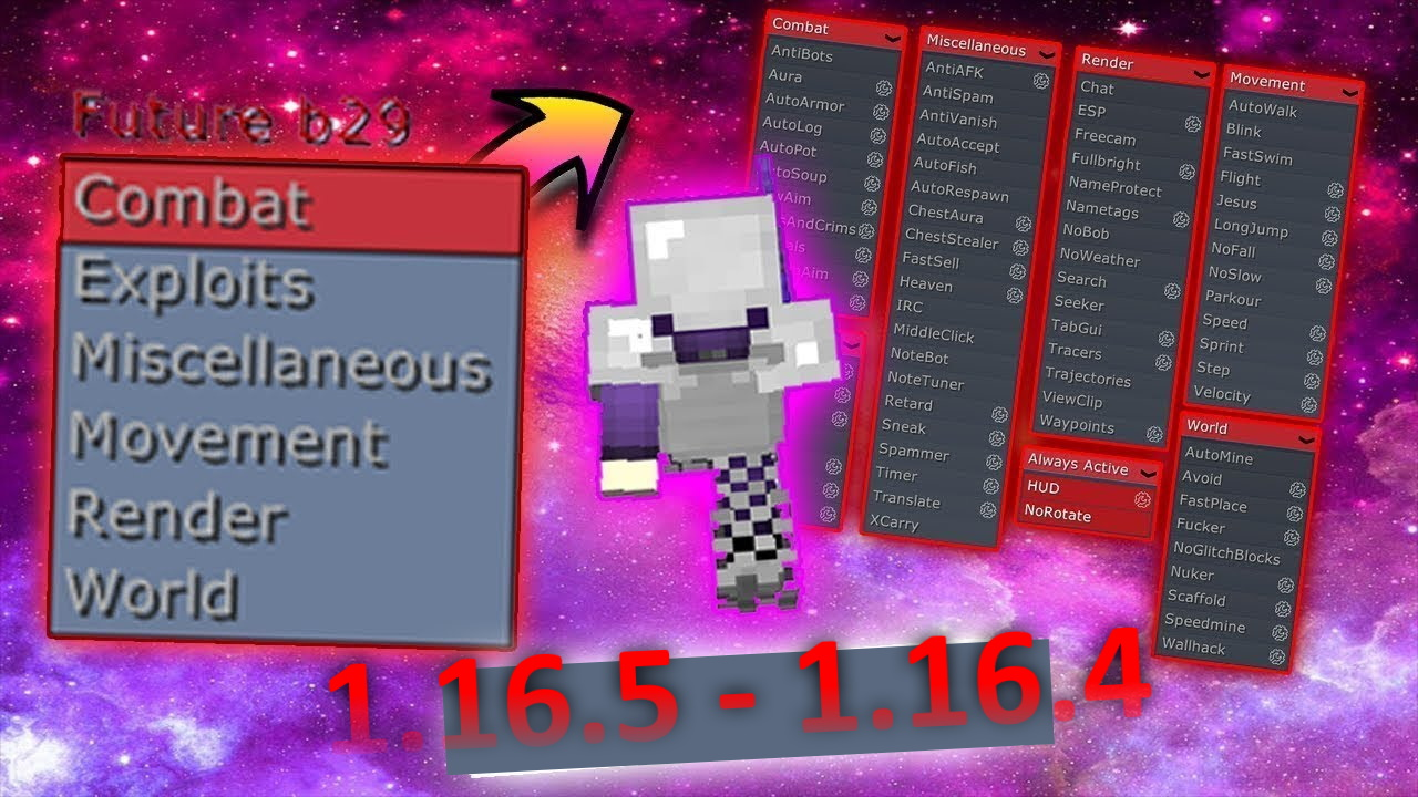 Future Hacked client Minecraft 1.16.5