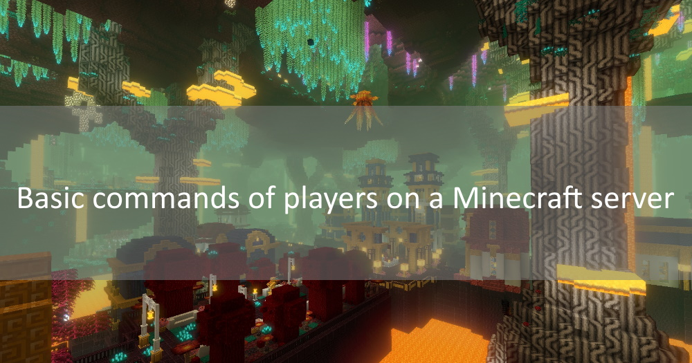Basic commands of players on a Minecraft server