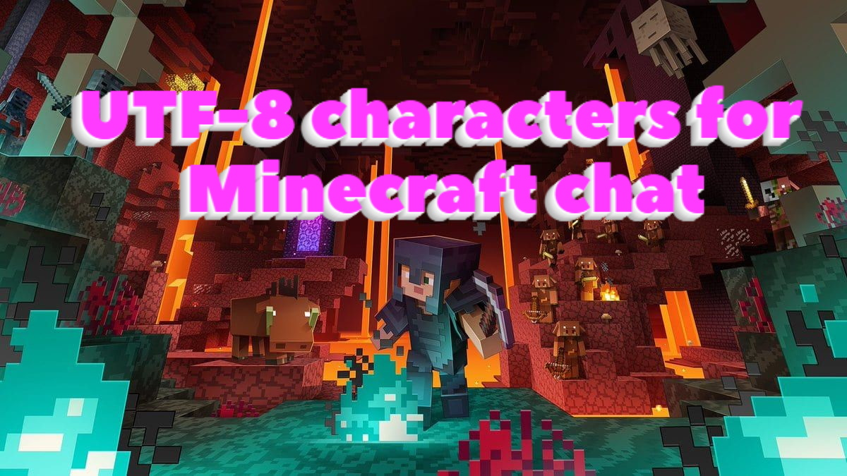 utf-8 characters for Minecraft chat